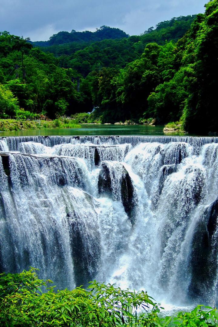 Les chutes de Shifen (Taïwan)