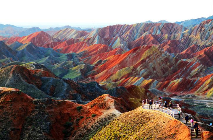 Le paysage de Zhangye Danxia (Chine)