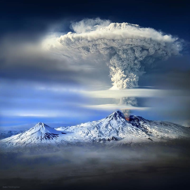 Le volcan du Mont Ararat (Turquie)
