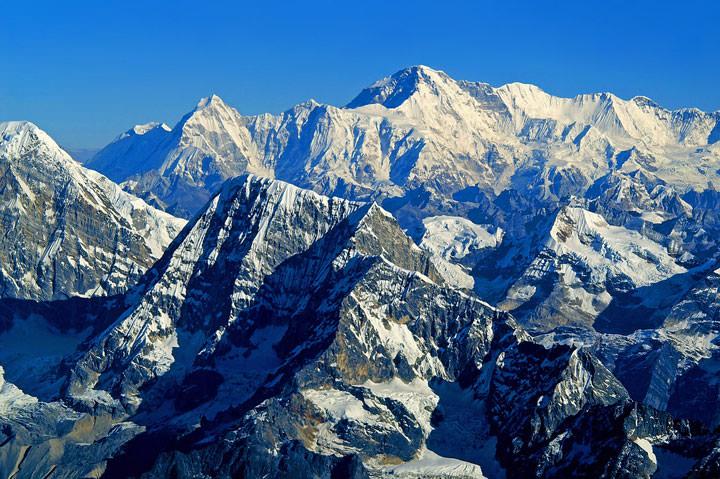 L'Himalaya (Afghanistan, Inde, Chine, Pakistan, Birmanie, Népal, Bhoutan)