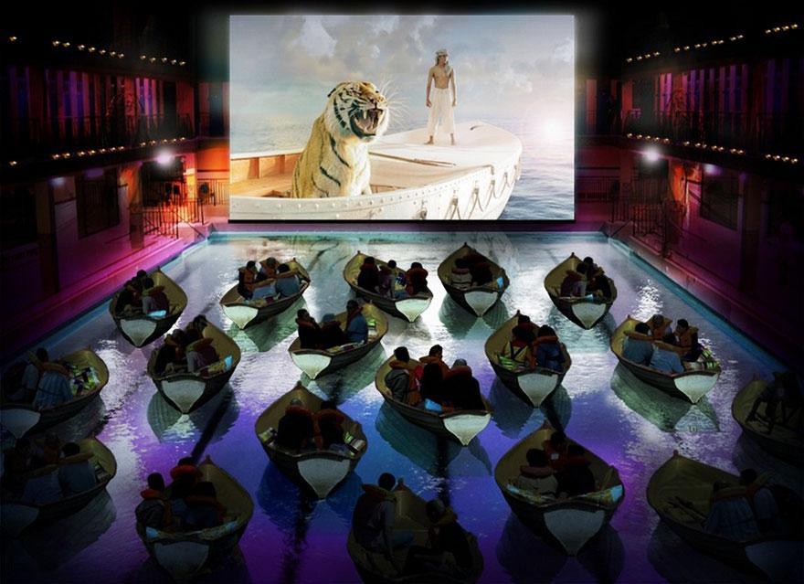 Salle de cinéma à Paris (France)