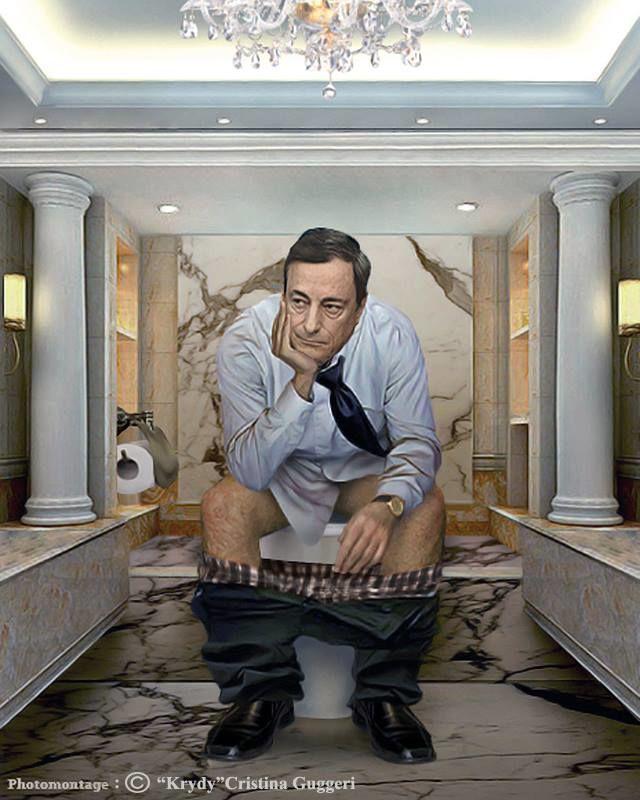 Le Président de la Banque centrale européenne Mario Draghi