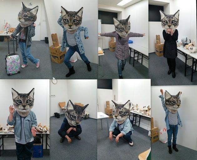 Un masque de chat criant de réalisme 2