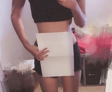 Les réseaux sociaux ciblent une nouvelle fois l'apparence physique… avec une feuille de papier A4 4