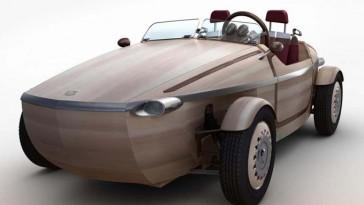 Une robe entièrement en bois pour le concept Setsuna de Toyota